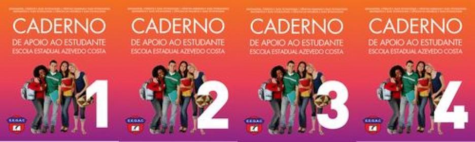 Caderno de Apoio ao Estudante - Caderno do Aluno Volumes 1 a 4